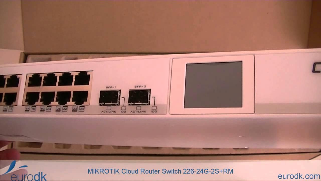 Mikrotik Cloud Router Switch 226 24g 2s Rm Quick Unboxing