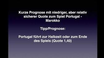 Prognose zum Spiel Portugal - Marokko