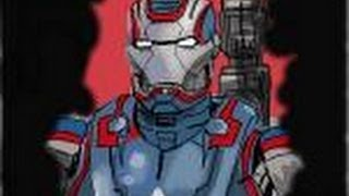 How to draw Iron Patriot Armor from Iron Man