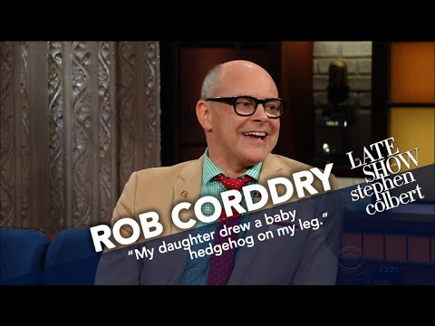 Rob Corddry Let His Seven-Year-Old Draw His Tattoo