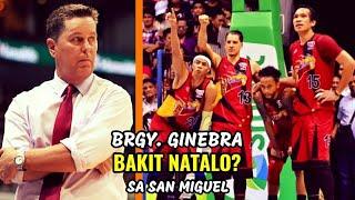 Tim Cone NAG SALITA NA Ukol sa Pagkatalo | Ginebra vs San Miguel