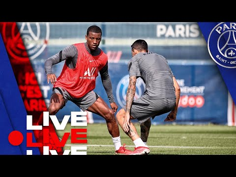⚽️ 15 minutes d'entraînement avant Paris Saint-Germain - Manchester City 🔴🔵
