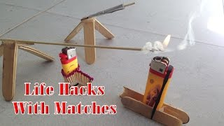 5 simple life hacks with lighters and matches make amazing mini rocket