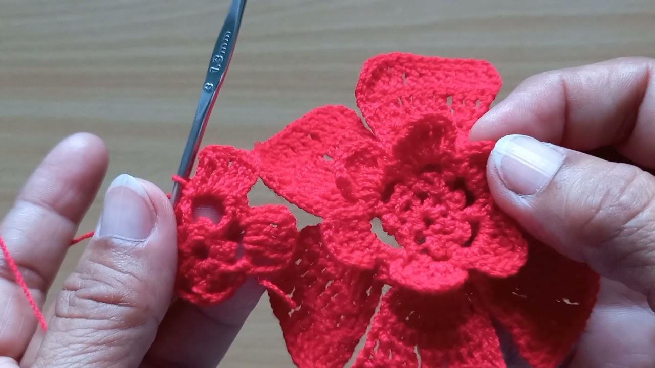 ลายดอกกุหลาบ#ถ้กโครเชย์ลายดอกกุหลาบ#เสื้อถักลายดอกกุหลาบ