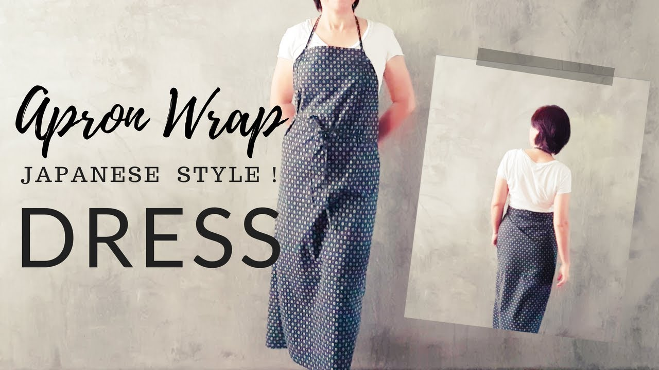 Diy Apron Wrap Dress Open Back Self Drafted Sewing