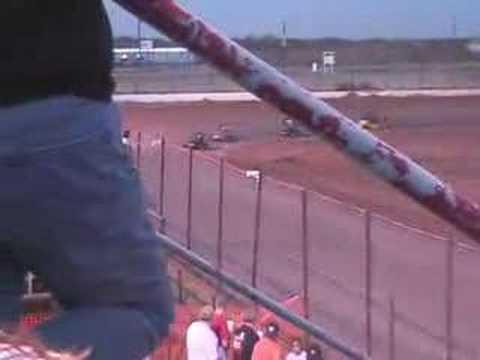 Outlaw karting Texoma Motor Speedway 1/5 mile Gobbler race 2007