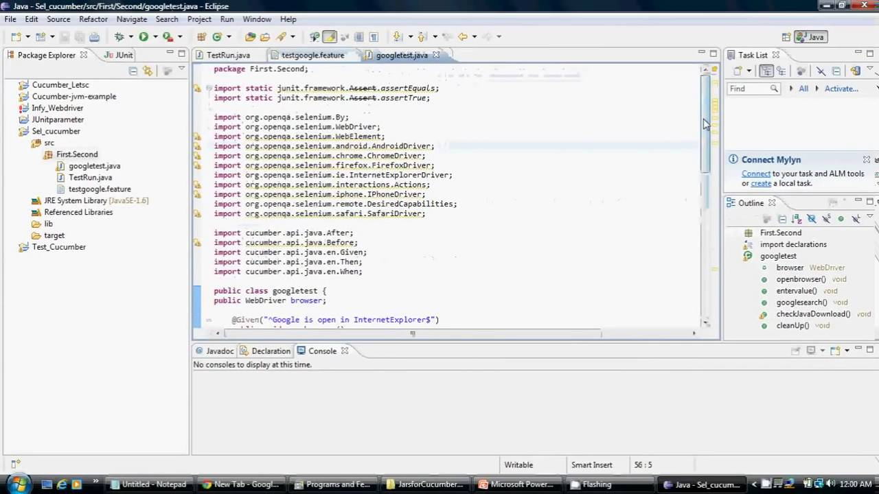 Configure Selenium Webdriver with Cucumber Example in Eclipse - YouTube