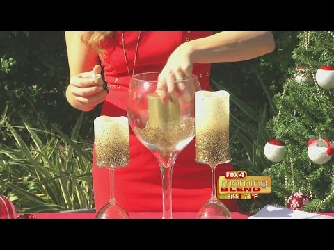 Christmas Decorations: Wine Glass Centerpiece 12/20/16