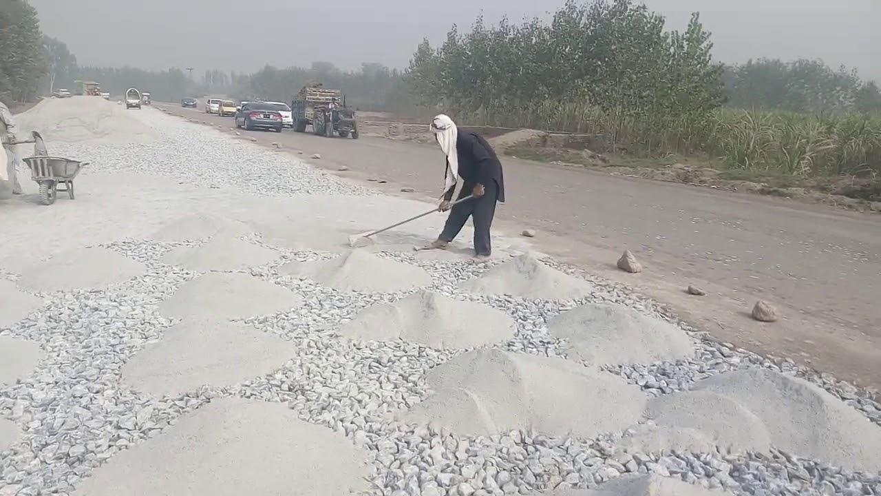 Water Bound Macadam (WBM) Road at site Laying Stone Dust