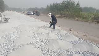 Download Video Water Bound Macadam (WBM) Road at site Laying Stone Dust MP3 3GP MP4