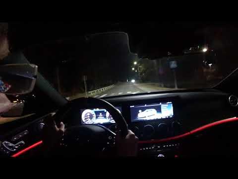 POV SLIPPERY night Mercedes AMG E63 S 4MATIC+ Estate Designo Diamond White Bright