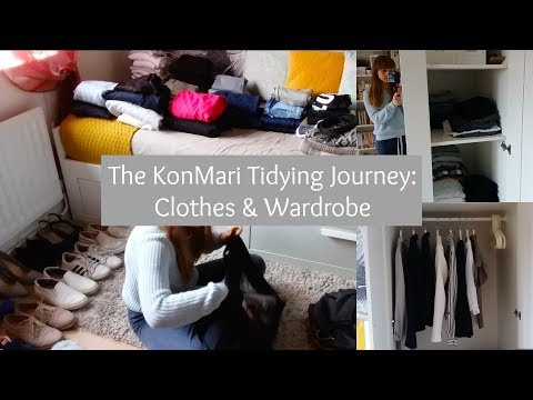 The KonMari Tidying Journey - Clothes & Wardrobe | Bookish Vegan