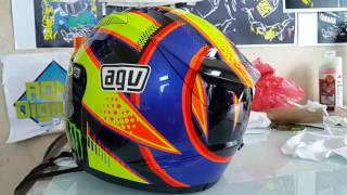 hasil pengecatan helm kyt r10 motif soleluna 2016