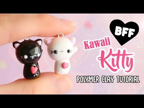 Easy Kawaii Cats│Polymer Clay BFF Charm Tutorial