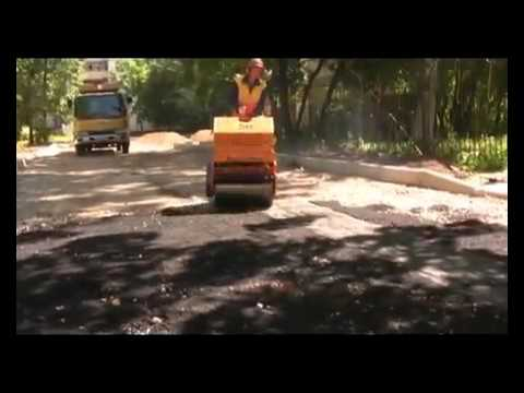 Ручной тротуарный каток DM006