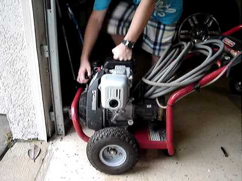 Honda Gc 160 Generac Pressure Washer Start Up Youtube