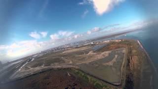 Flying Galveston Texas East Beach January 26, 2013