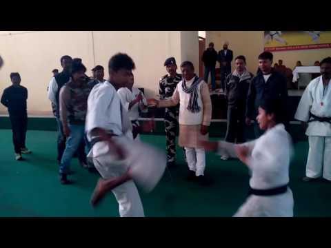 Indian school of martial art in little demo