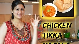 Chicken Tikka Masala - gegrillt Hähnchenwürfel in einer köstlichen Sauce - indisch Kochen