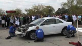 Demo of how quickly a car can be stripped for parts