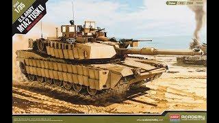 """Обзор модели основного боевого танка армии США М1А2 """"Абрамс"""" Academy 1:35"""