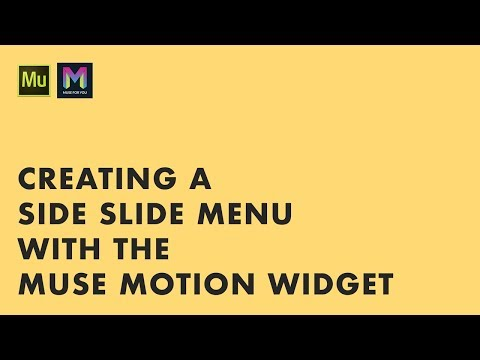 Creating a Side Slide Menu with the Muse Motion Widget | Adobe Muse CC | Muse For You