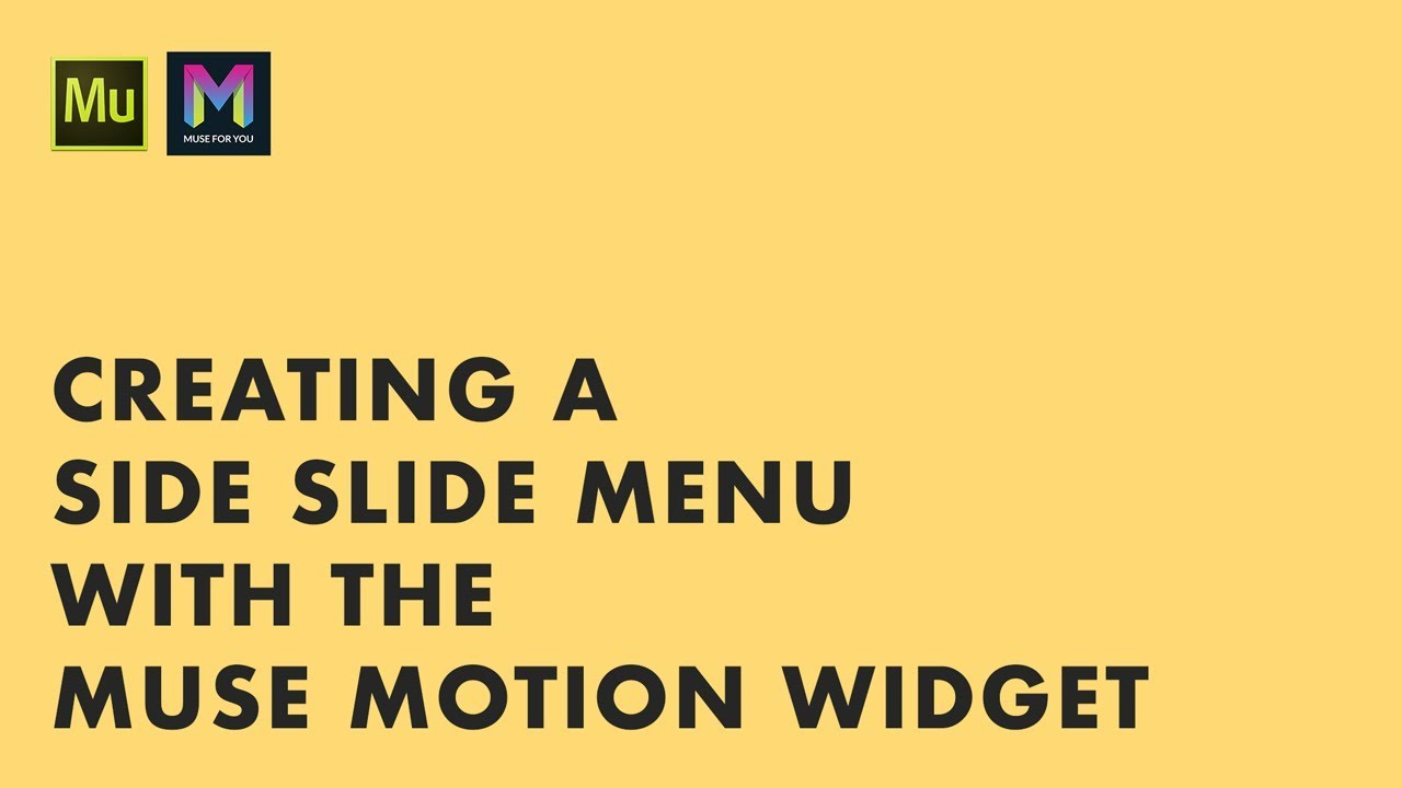 how to make menu slide in from the side muse