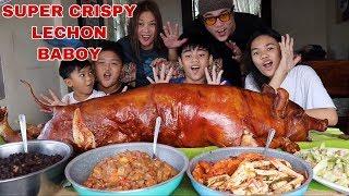 super-crispy-whole-lechon-baboy-pinaputok-menudo-mixed-spicy-seafood-chapsuey-pinoy-mukbang