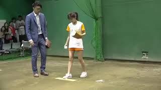 宇野実彩子 始球式.