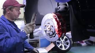 Cadillac Escalade 4gen тюнинг тормозной системы  комплект JBT