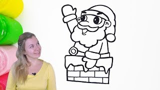 How to Draw and Color Santa Claus