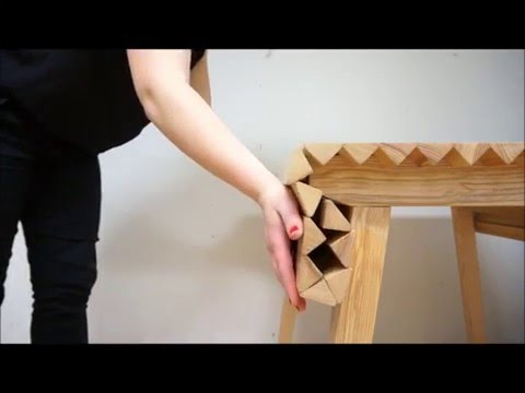 Rollable Wooden Table
