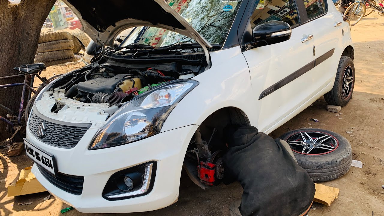 My Swift With New Suspension Installed | Modified Maruti Swift | Suspension  Change Full Video
