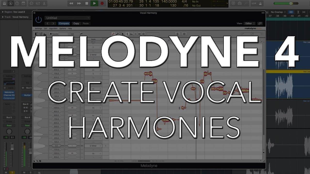 Create Vocal Harmonies   MELODYNE 4
