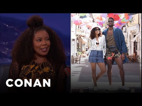 "Gabrielle Union Loves Dwyane Wade's ""Manny Pack""  - CONAN on TBS"