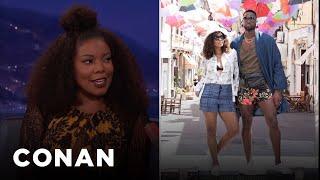 "Gabrielle Union Loves Dwyane Wade's ""Manny Pack""  - CONAN on TBS"