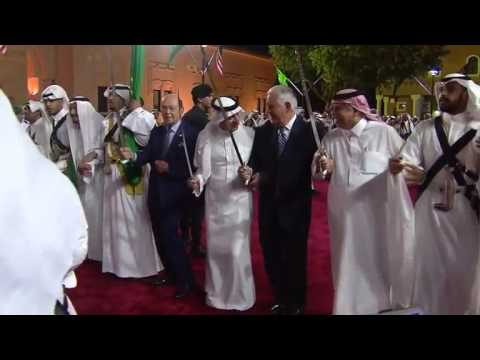 Trump, Tillerson, Ross dance with swords in Saudi Arabia (credit: REUTERS)