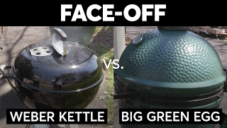 Charcoal Face-Off Weber Kettle vs Big Green Egg  Consumer Reports