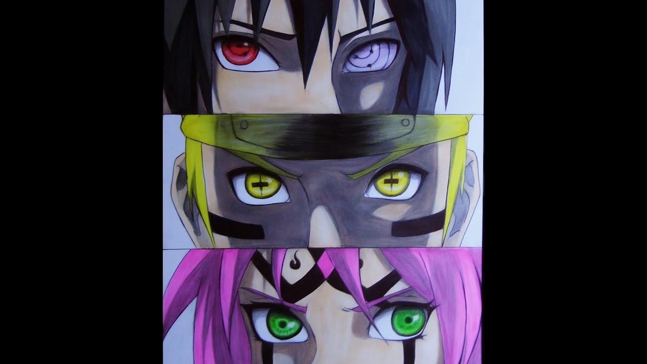 Dibujo Dibujando Equipo 7 Naruto Sasuke Sakura Speed Draw Team 7