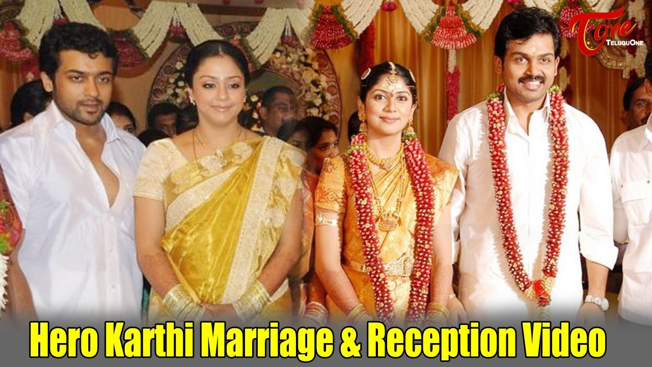 Hero Karthi Marriage & Reception Video