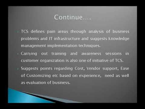 tcs knowledge management