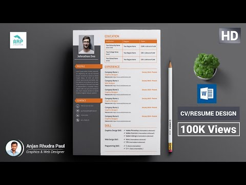 How To Create A CV/RESUME Template In Microsoft Word Docx : ✪ Docx Tutorial ✪