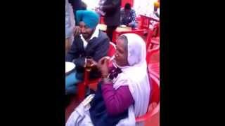 Punjabi old women drink alcohol in a party