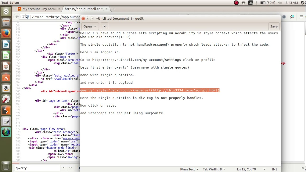 PoC   Security Bug   Nutshell com  Xss in style context[FIXED]