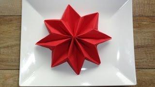 Gwiazda betlejemska - składanie serwetki / dekoracja stołu