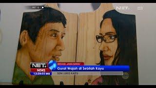NET12 - Hadiah untuk orang terkasih dengan lukisan wajah diatas sebilah kayu
