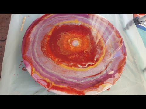 Resin Art tutorial/ for beginners/ Le'Rez pigments