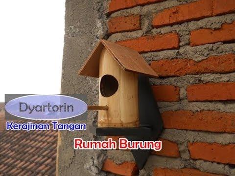 Kreasi Sederhana Rumah Burung Dari Bambu Bekas
