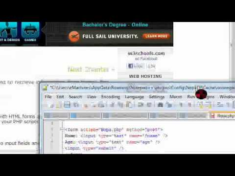 Vid 2] PHP Forms *W3Schools.com* - YouTube