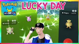 4x RARE SHINIES CAUGHT during NEW POKEMON GO DAY EVENT! ( SHINY CATCH REACTIONS )